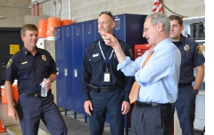 With Tucson Fire personnel.