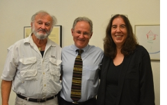 With Tucson's first and current Poet Laureates, William Pitt Root and Rebecca Seiferle.