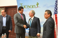At a joint press conference with the Governor of Sinaloa, Mexico.