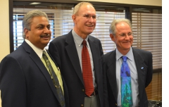 With Mayors Satish Hiremath of Oro Valley and Duane Blumberg of Sahuarita.