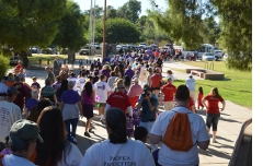 At the 2012 Walk to End Alzheimer's.