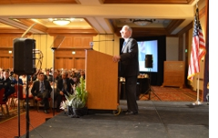 Delivering the State of the City Address.