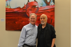 With Randy Hansen, whose art is on exhibit in the Mayor's Office.