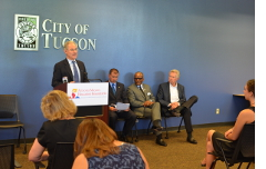 Releasing a report on the high cost of dropouts and announcing a volunteer walk with TUSD.