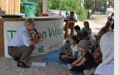 Talking to students at Tucson Village Farm.