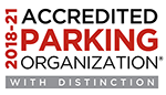 parking organization accrediting award logo
